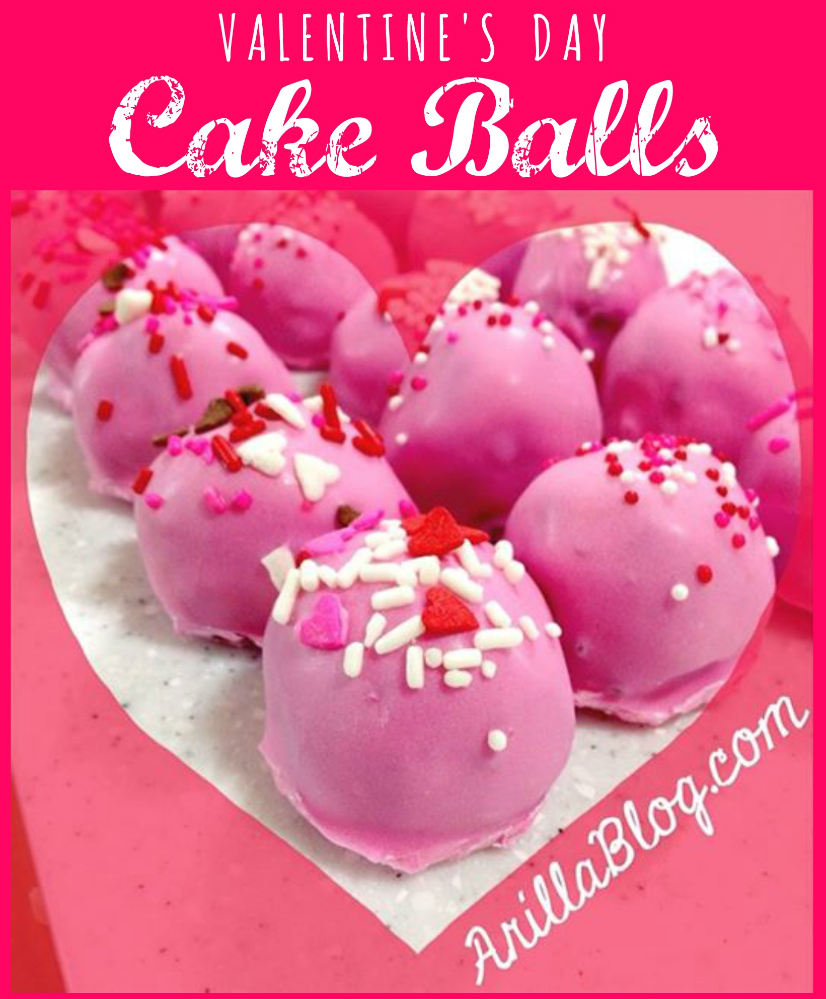 Valentine's Day Cake Balls | ArillaBlog